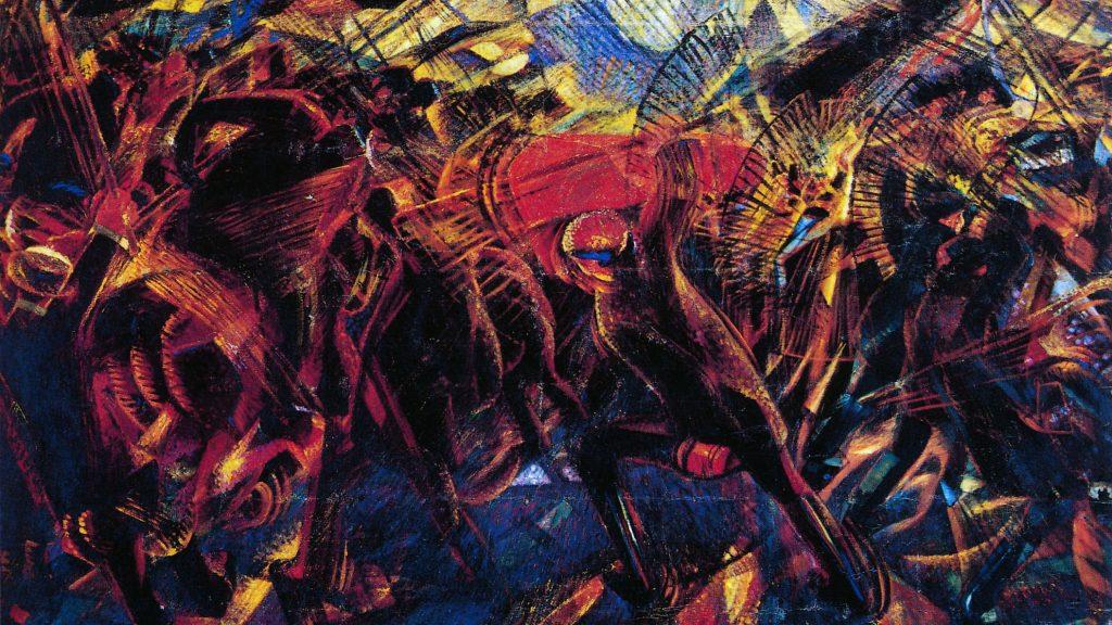 Carlo Carrà - Funerali dell'anarchico Galli (1911)