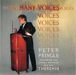 "Cover of Peter Pringle's ""Many Voices"" CD."