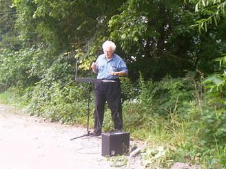 Bob moog playing the Etherwave theremin