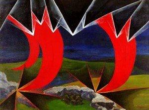 Luigi Russolo (1885-1947), Impressions of Bombardment (Shrapnels and Grenades), 1926, oil on canvas, 103 x 138 cm, Collection of the Comune di Portogruaro