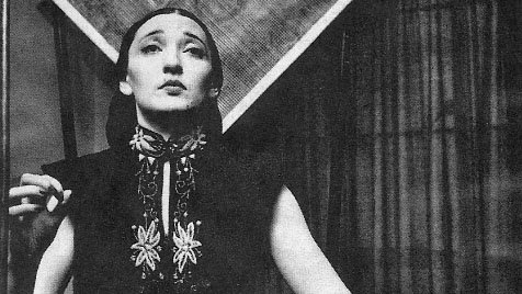 Clara Rockmore playing the Theremin.