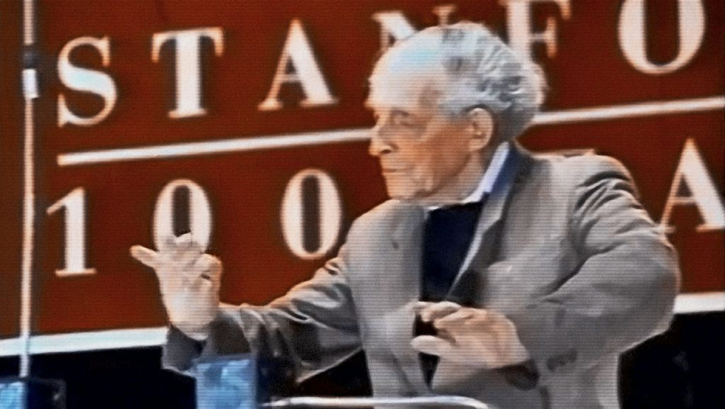 Leon Theremin at Stanford University in 1991.
