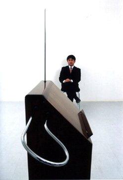 Masami Takeuchi and his Big Briar Series 91a theremin.