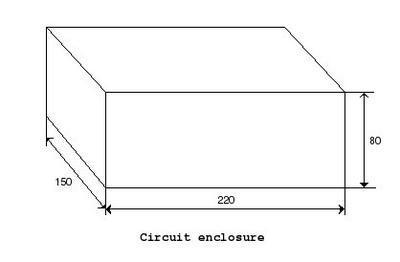 Necotron transistor theremin. Internal enclosure.
