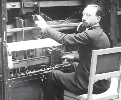 Russolo at the Russolophone, 1930.