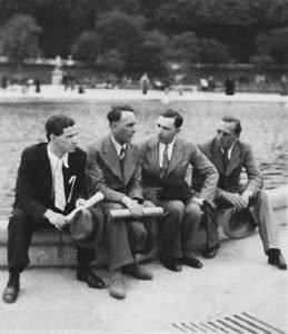 Josef Paliniček, Bohuslav Martinů, Rudolf Firkušný and Jiři Můcha in Paris, 1939.