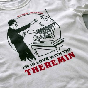 Photo of the Theremin's 100th anniversary T-shirt