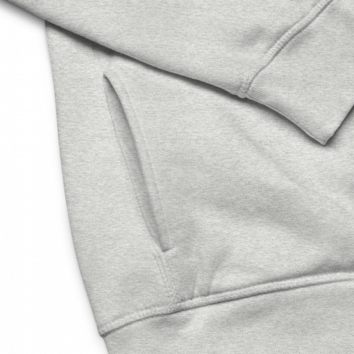 Detail of Theremin's 100th Anniversary Eco Hoodie.