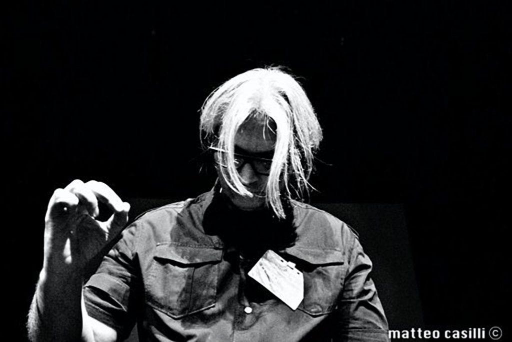 "Photograph of Maurizio ""ErMan"" Mansueti at the European Moog Fest in Rome."