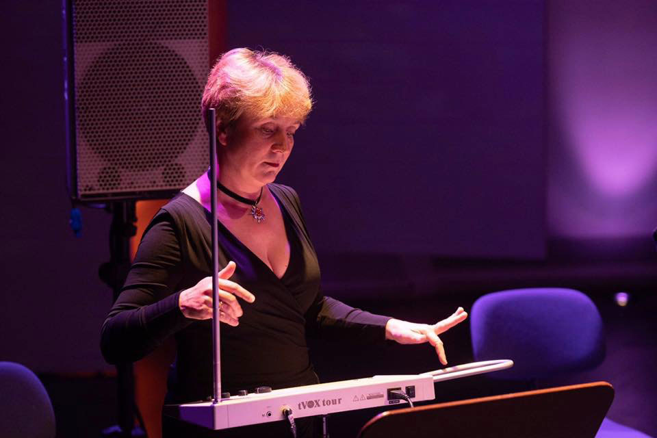 Theremin virtuosa Lydia Kavina playing in Tenerife in 2018