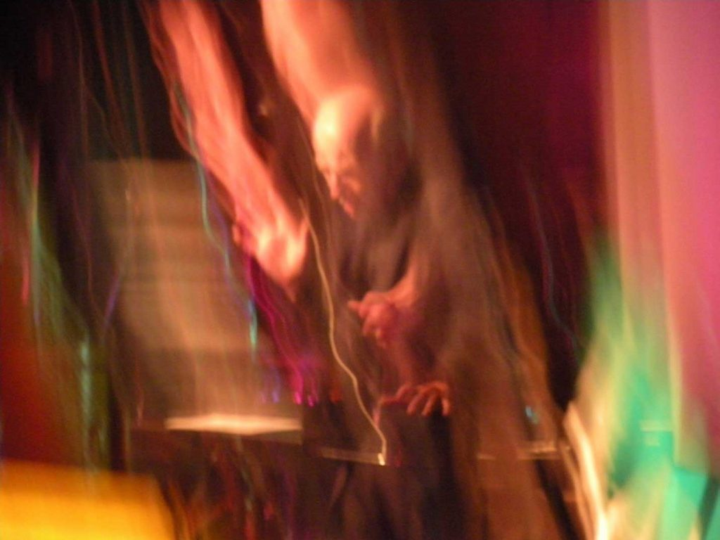 Eric Ross in Berlin Germany performing Music from the Future CD Tyava Music ER 107. Photo by Mary Ross. 2010